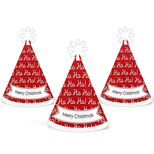 Santa Claus Cone - Jolly Santa Claus - Mini Cone Merry Christmas Party Hats - Small Little Party Hats - Set of 10