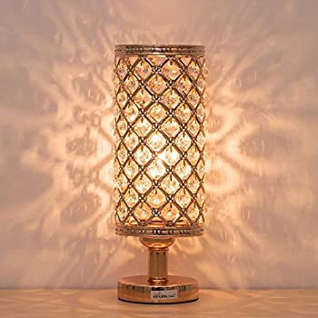 Haitral Crystal Table Lamp Modern Night Light Lamp With
