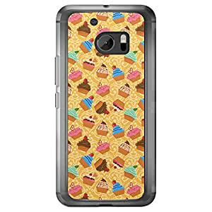 Loud Universe HTC M10 Bakery Mix Printed Transparent Edge Case - Multi Color