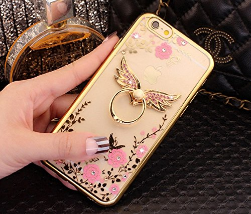 new style 38972 d5d1e Amazon.com: iPhone 6S Plus/6 Plus Case,Soft TPU Silicone Luxury Gold ...