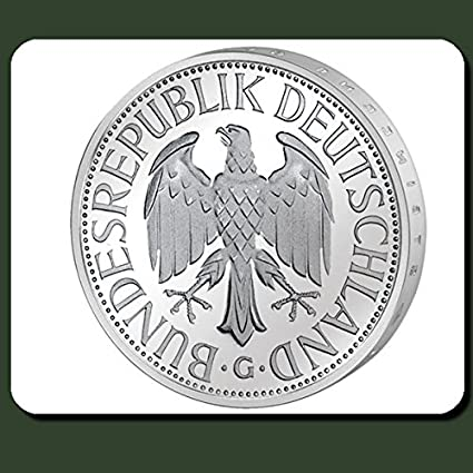 Amazon German Mark 1 Currency Euro Brd Coin Money Mouse Pad
