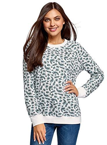 oodji Ultra Damen Bedrucktes Sweatshirt Basic