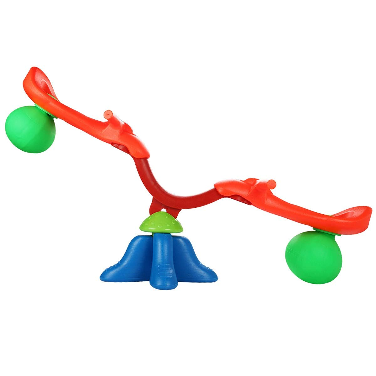 USA_BEST_SELLER Kids Seesaw 360 Degree Spinning Teeter Easy-Grip Totter Bouncer