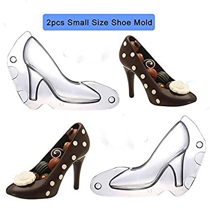 3b0612ae54f9 Buy Pinkdose® Bh015  2Pcs Set Shoe Chocolate Mold 3D High Heel Shoes Candy  Molds Cake Decorating Tools for DIY Home Baking Sugar Craft Accessories  Online ...