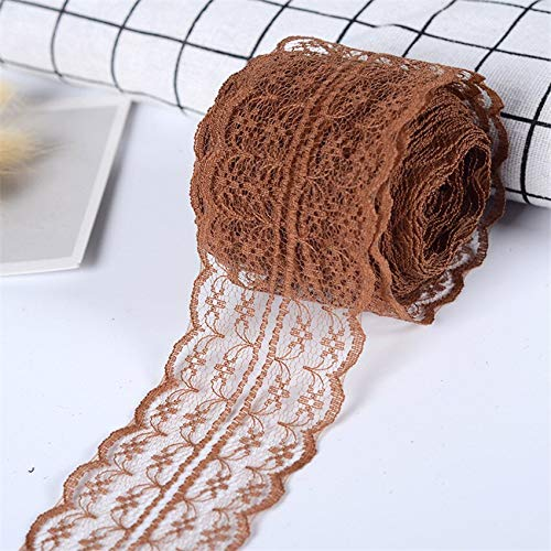 Viet JK Wedding Decorations - 10m Colorful Lace Ribbon Lace Trim Fabric Rustic Wedding Decoration Handcrafted Embroidered Sewing Clothes Dress DIY Material (Wedding Mint Dress Tin)