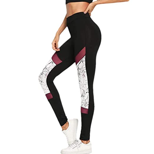 84eb3e249f8e7d Amazon.com: Women's Slim Workout Leggings Ladies Fashion Fitness Sports Gym  Running High Waist Yoga Athletic Pants: Clothing