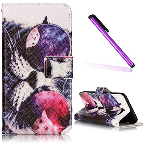 Samsung Galaxy J7 2017 Case Cover EMAXELER Embossed Stylish Kickstand Flip Credit Cards Slot Cash Pockets PU Leather Flip Wallet Case For Galaxy J7 2017 Painting Sunglasses - Embossed Sunglasses