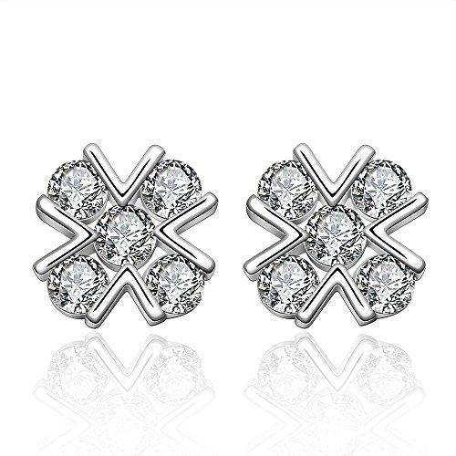 Design Stud Earrings fashion jewelry,Birthday gifts for women girls Wedding jewellery by BLOOMCHARM