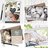 Personalised Wedding Photo Thank You Cards Flat Or Folded Envelopes Included Choice of Colour Free Design Proof Click Customize Now for Prices