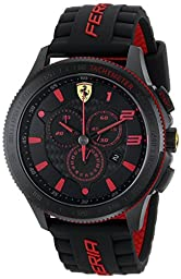 Ferrari Men\'s 0830138 Scuderia XX  Silicone Band Watch