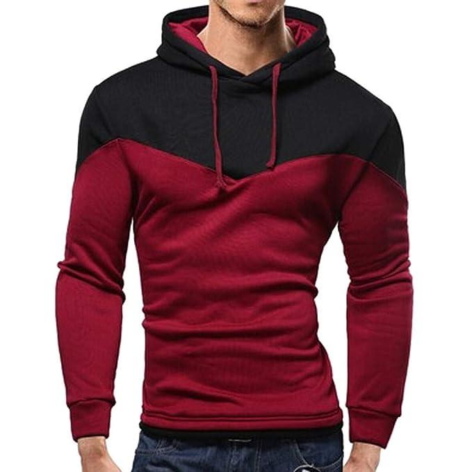 Rosso MERICAL Felpa da Uomo con Cappuccio Maglione da Uomo
