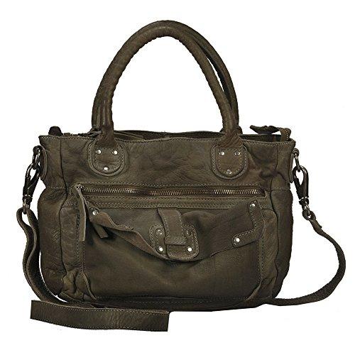 Vilenca Holland 40695 Olivegreen - Bolso estilo cartera para mujer Olivegreen L31cmxH21cmxW9cm