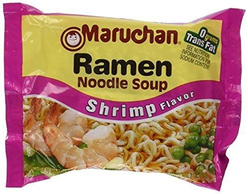 (Maruchan Ramen Shrimp Flavor Noodle Soup 3 oz (Pack of 48))