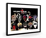 rage against the machine framed - Rage Against the Machine Tribute Framed Guitar Plectrum Display