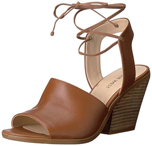 (Nine West Women's Yanka Leather Dress Sandal, Dark Natural, 7 M US)