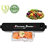 MABOLON Vacuum Sealer Machine, Automatic Vacuum Sealer, Portable Compact Vacuum Sealing System for Vacuum and Seal, Cooking Mufti-function including Foods Saver Vacuum Sealer Bags