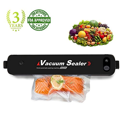 MABOLON Vacuum Sealer Machine, Automatic Vacuum Sealer, Portable Compact Vacuum Sealing System for Vacuum and Seal, Cooking Mufti-function including Foods Saver Vacuum Sealer (Vacuum Package Machine)