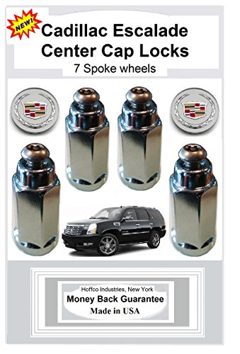 Cadillac Escalade Center Cap Locks for 7 spoke wheels (Center Cap Locks)