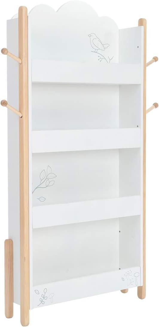 Estantería Blanca para Libros Infantil de 1 a 5 años, Estantería para Libros Independiente de madera, Ideal para Habitaciones Infantiles, guardería: Amazon.es: Bebé