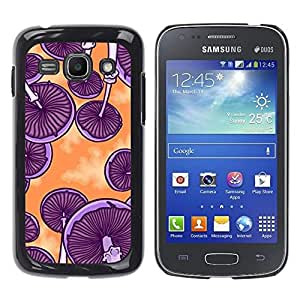 Design for Girls Plastic Cover Case FOR Samsung Galaxy Ace 3 Mushrooms Purple Orange Art Psychedelic OBBA