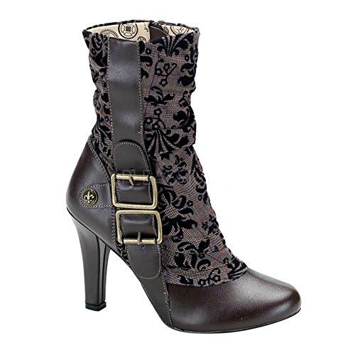 Heels-Perfect - Cerrado de material sintético mujer marrón - marrón