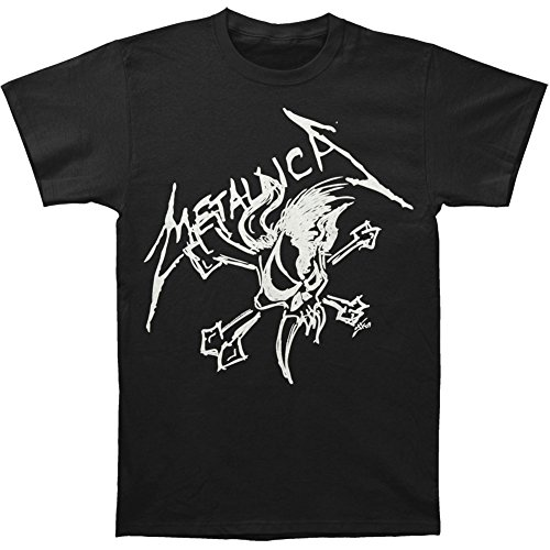 Metallica Men's Scary Guy And Bones T-shirt Small - Metallica Guy Scary
