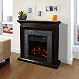 XtremepowerUS Large Room Grand 3D Flame Electric Fireplace with Mantel...