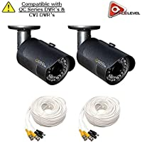 Q-See 1080p HD Bullet Security Camera 2-Pack: 2MP, 3.6mm Lens, 24 IR LEDs up to 80ft, 2D-DNR, BLC, AGC, IP66 - QCA8050B