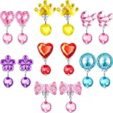 Hicarer 7 Pairs Christmas Crystal Clip on