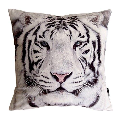 "UPC 791810430452, Phantoscope Animal Series Snow White Tiger Decorative Throw Pillow Case Cushion Cover 18""x 18"""