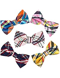 550b25135cce 5 PACKS Elegant Adjustable Pre-tied Bow Ties or 1 Bowtie & Handkerchief Set  Gift