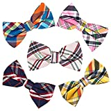 5 PC Mens Assorted Pattern Pre-Tied Adjustable Neck Tie Bowties (A-01-1)