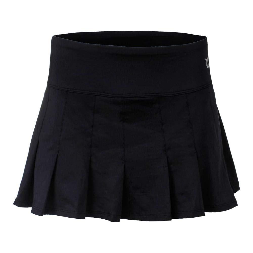 Eleven by Venus Williams Women's Core 12'' Flutter Skirt Black Large