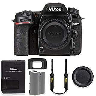 Nikon D7500 20.9MP DSLR Body Only Basic Camera Kit (Renewed)