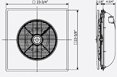 Drop Ceiling Tile Fan With Remote Control SA-398