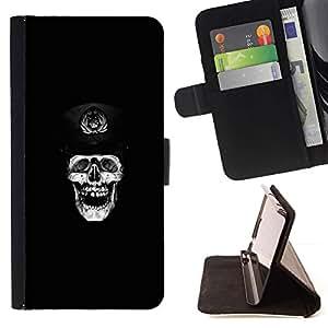 Momo Phone Case / Flip Funda de Cuero Case Cover - Cráneo de Rusia;;;;;;;; - Apple Iphone 5C