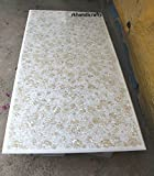 Luxury 60'' x 30'' White Marble Dining Table Top Mother Of Pearl Stone Inlay Royal Design