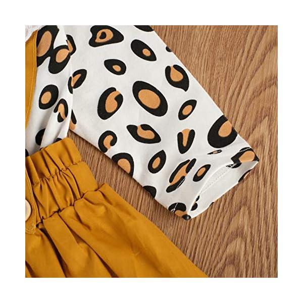 Carolilly 3 Pezzi Completo Bambina Stampa Leopardato Pagliccetto a Manica Lunga in Pizzo+Vestito Bambina Principessa… 7