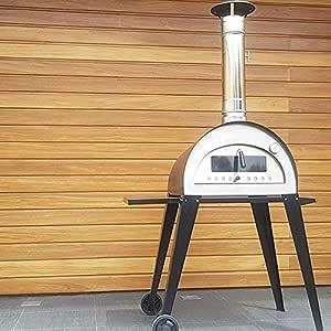 Hogar Decora Horno a leña portátil, de Acero Inoxidable y ladrillo refractario, Modelo Carpe Diem: Amazon.es: Hogar