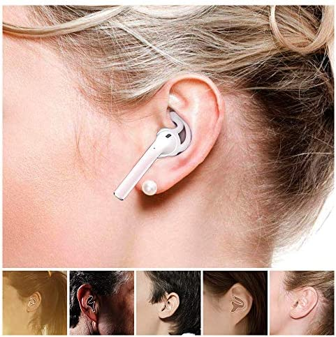 ZALU Hooks and Covers Accessories Compatible with AirPods and EarPods Earphone Earbuds [3 Pairs] (Clear)