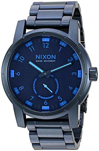 Nixon-Mens-A9372224-00-Patriot-Analog-Display-Japanese-Quartz-Blue-Watch
