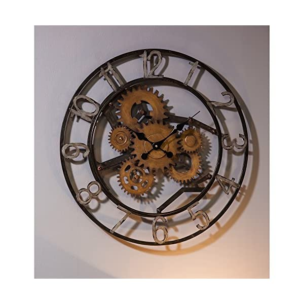 Cape Craftsmen Industrial Gears Metal Wall Clock 5
