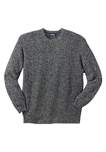 Kingsize Mens Shaker Crewneck Sweater