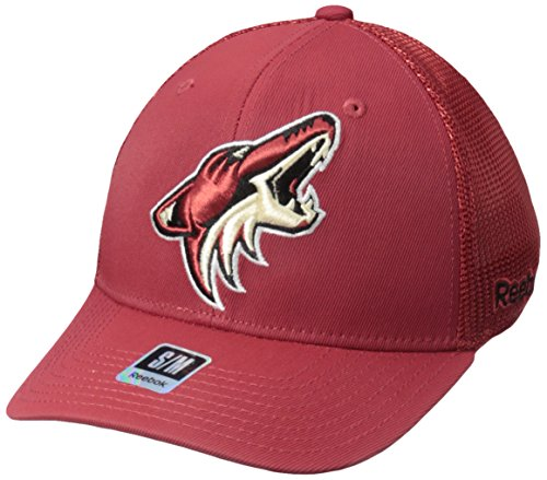 fan products of NHL Arizona Coyotes Men's SP17 Trucker Structured Flex Cap, Red, Large/X-Large