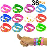 O'Hill 40 Pack Emoji Wristband Silicone Emoticons Bracelets for Kids and Adult Birthday Party Supplies Favors Prize Rewards