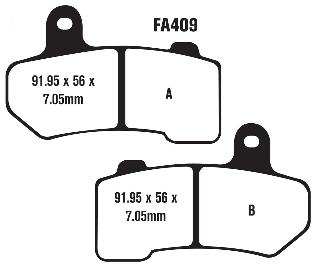 EBC Brakes EBPCK1024 Complete Double-H Sintered Brake Pad Change Kit