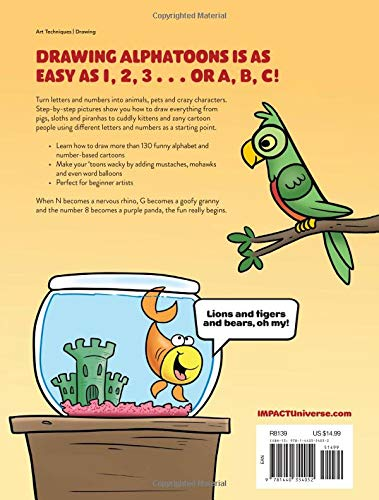 Draw Alphatoons 130 Crazy Critters And Characters From Letters And
