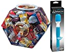 Gift Set of Asst. Flavor Condom Bowl (288) And Wittle Wanachi (Blue)