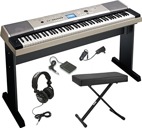 Yamaha YPG-535 88-Key Digital Piano w/ Knox Adjustable X ...