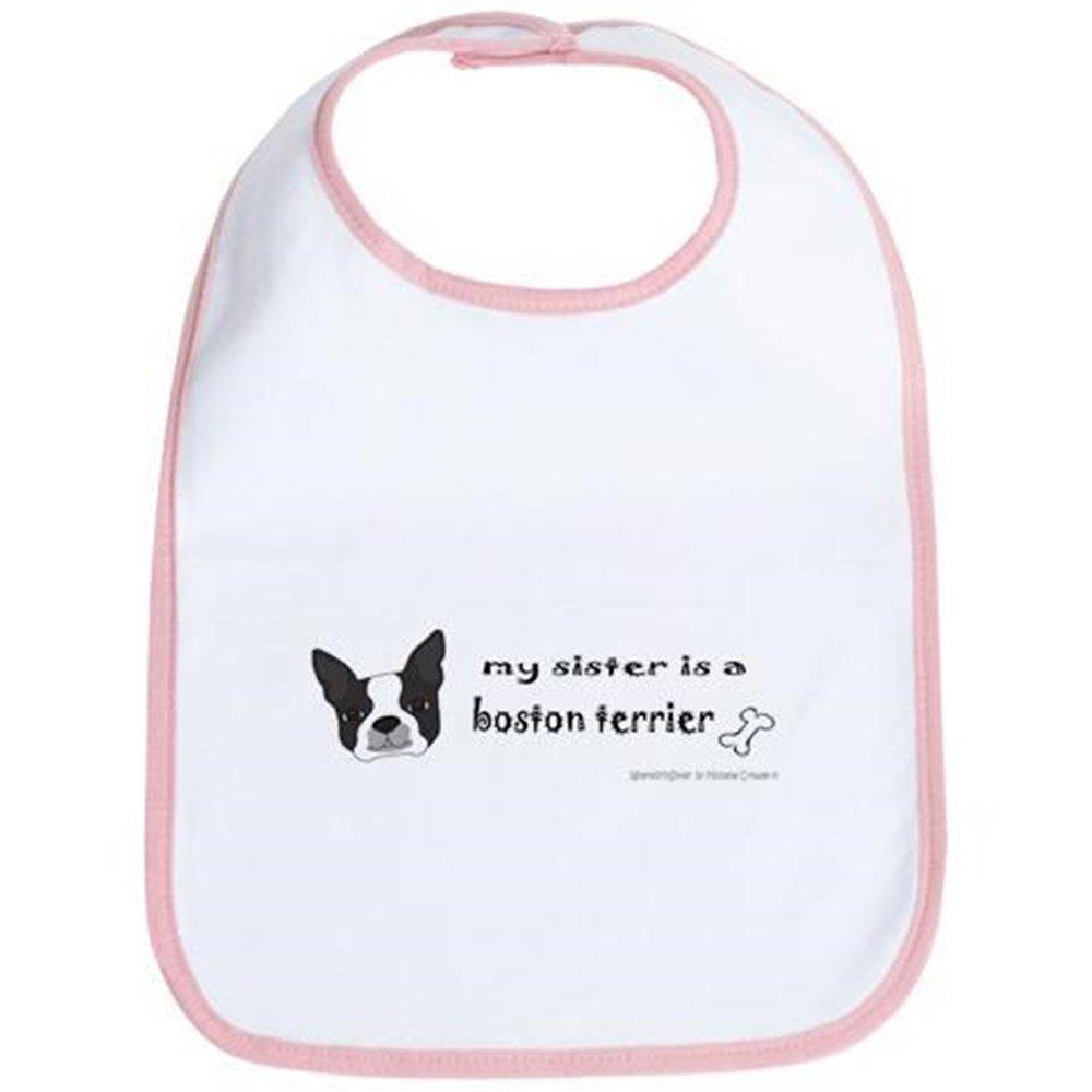 CafePress - Boston Terrier Gifts Bib - Cute Cloth Baby Bib, Toddler Bib